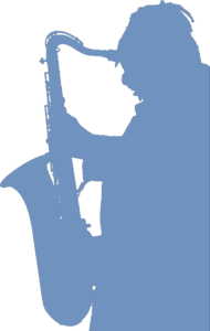 Saxophone-Player-Silhouette BLUED